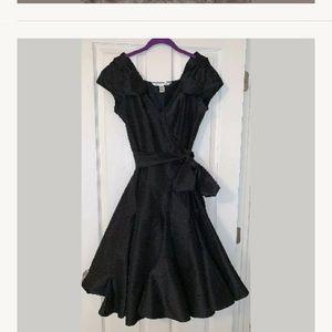 Diane von Furstenberg black silk formal size 6